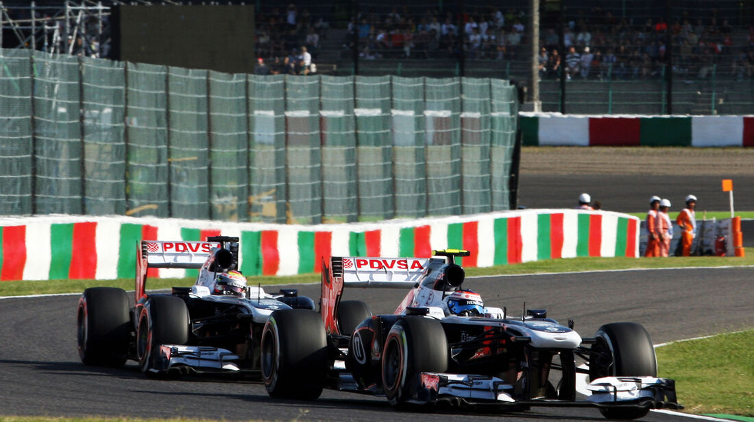 Bottas & Maldonado - Williams - Formel 1 - GP Japan - 12. Oktober 2013