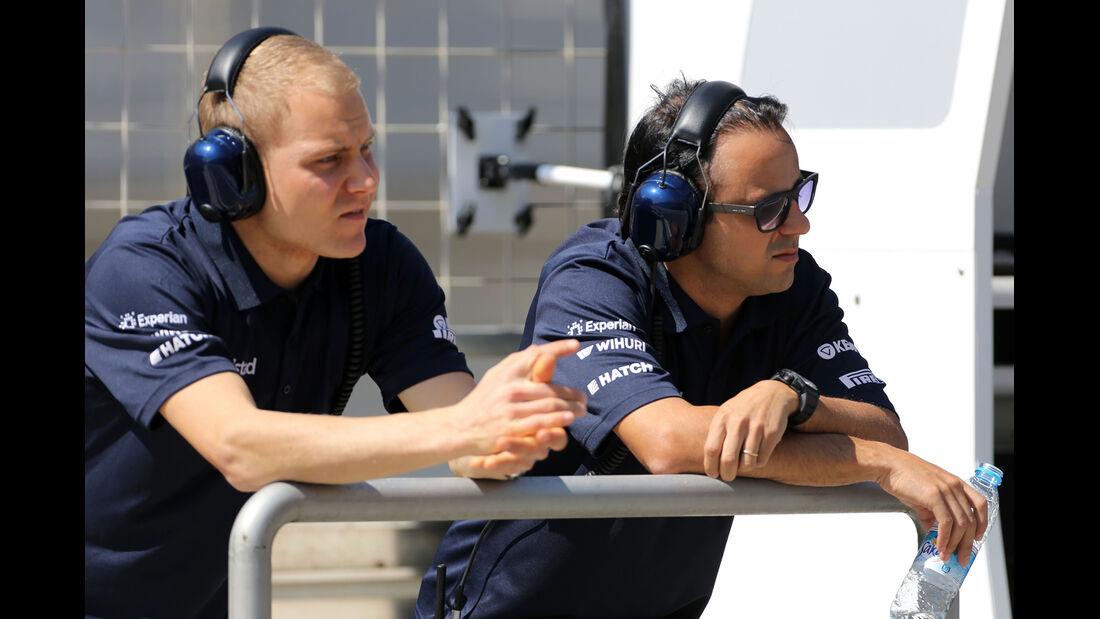 Bottas & Massa - Williams - Formel 1 - Test - Bahrain - 22. Februar 2014