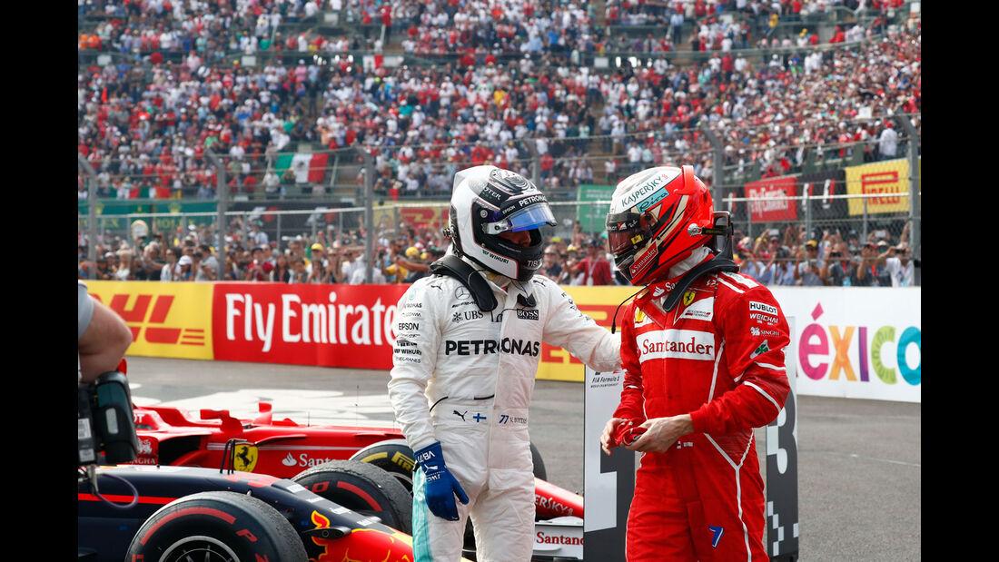 Bottas - Räikkönen - GP Mexiko 2017 - Rennen