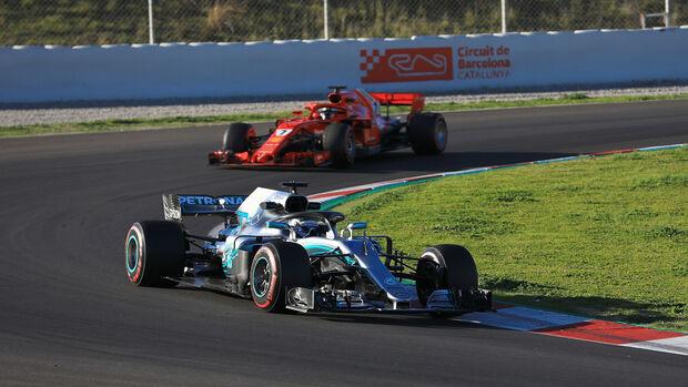 Bottas & Räikkönen - Mercedes & Ferrari - F1-Test - Barcelona - Tag 6 - 7. März 2018