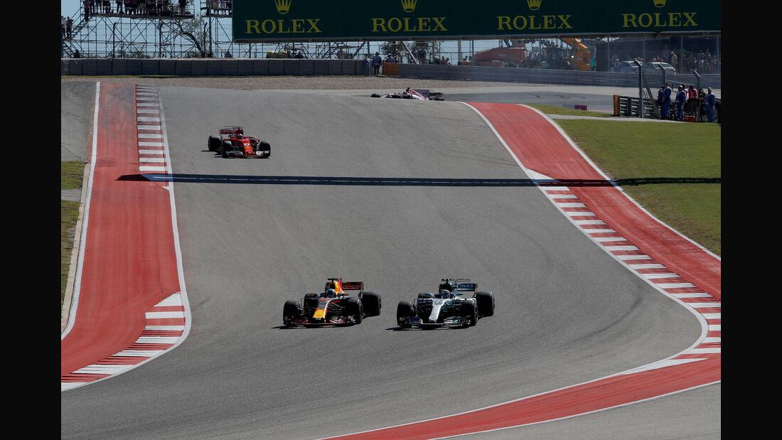 Bottas - Ricciardo - GP USA 2017 - Rennen