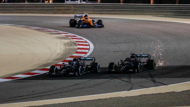 Bottas - Russell - GP Sakhir 2020 - Bahrain - Rennen