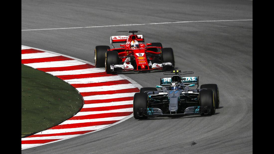 Bottas & Vettel - Formel 1 - GP Malaysia - Sepang - 30. September 2017