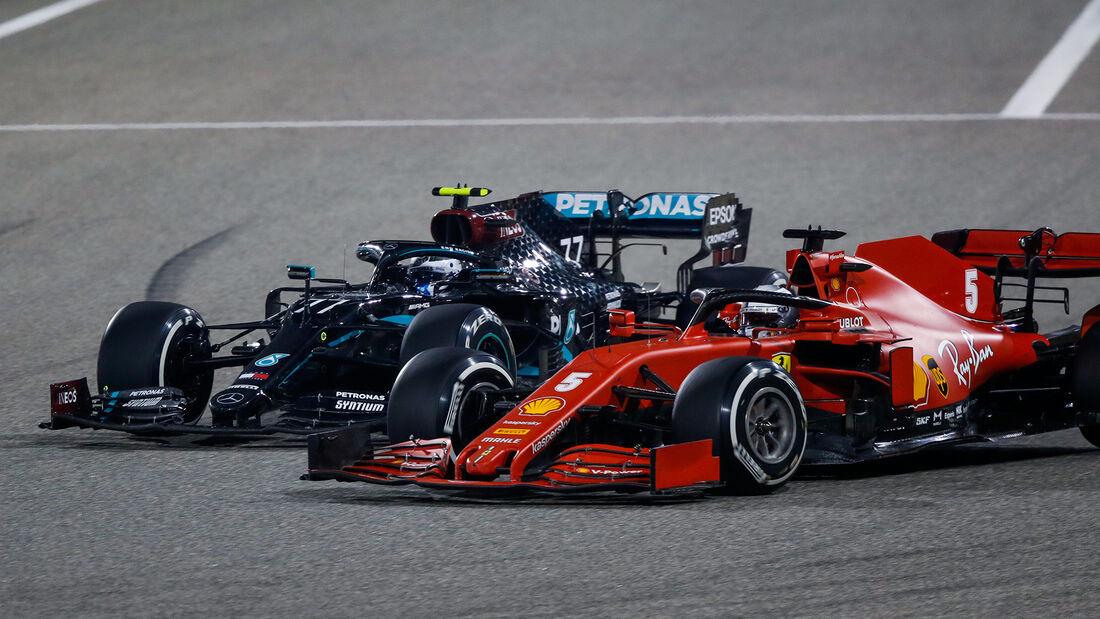 Bottas - Vettel - GP Bahrain 2020 - Sakhir - Rennen