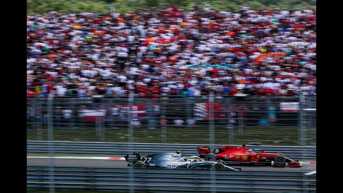 Bottas - Vettel - GP Ungarn 2019 - Budapest - Rennen