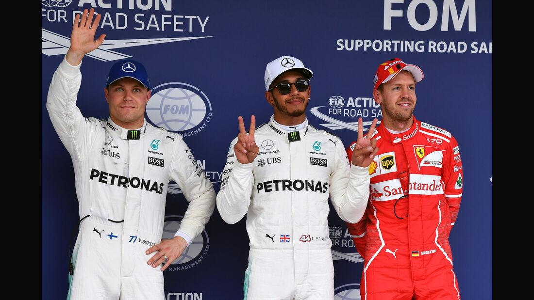 Bottas, Vettel & Hamilton - Formel 1 - GP Japan - Suzuka - 7. Oktober 2017