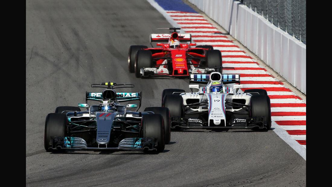 Bottas, Vettel & Massa - GP Russland 2017