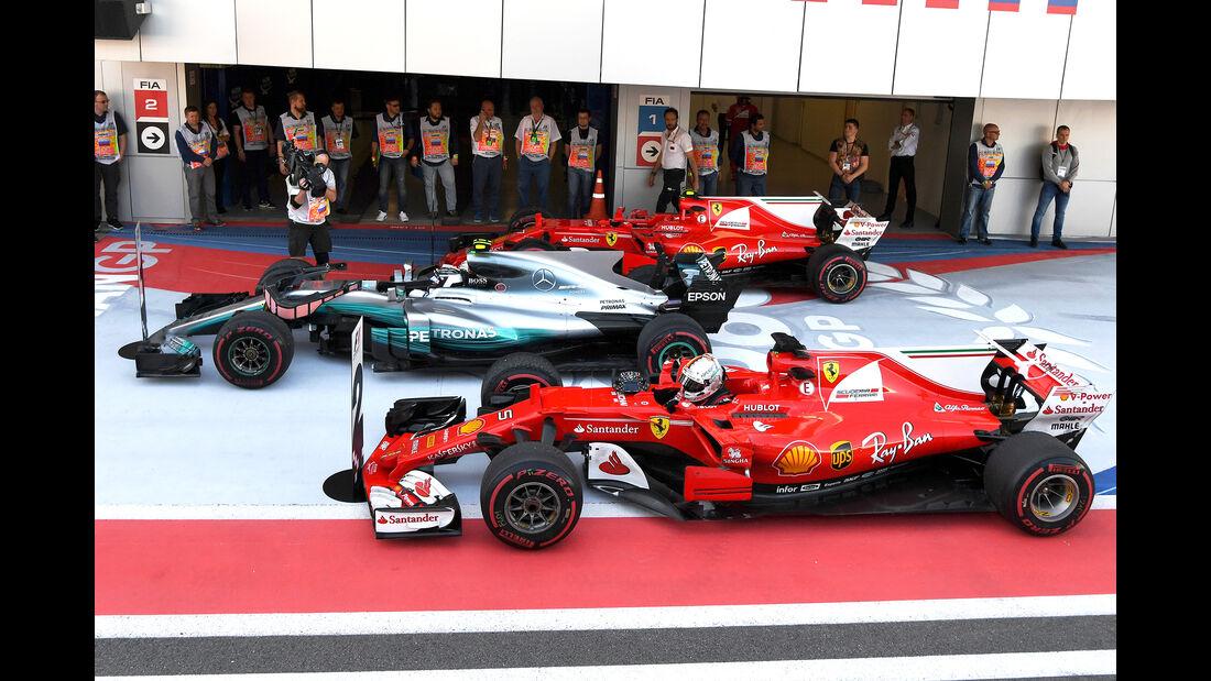 Bottas, Vettel & Räikkönen - GP Russland 2017
