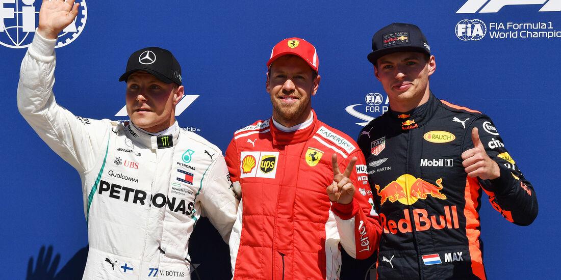 Bottas, Vettel & Verstappen - Formel 1 - GP Kanada - Montreal - 9. Juni 2018