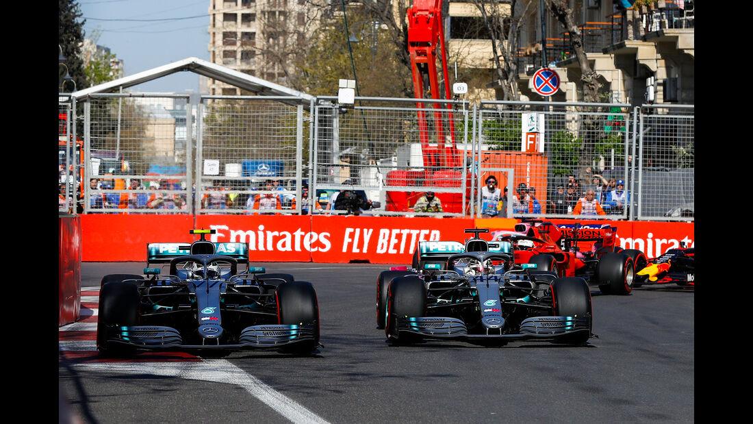 Bottas vs. Hamilton - Formel 1 - GP Aserbaidschan 2019