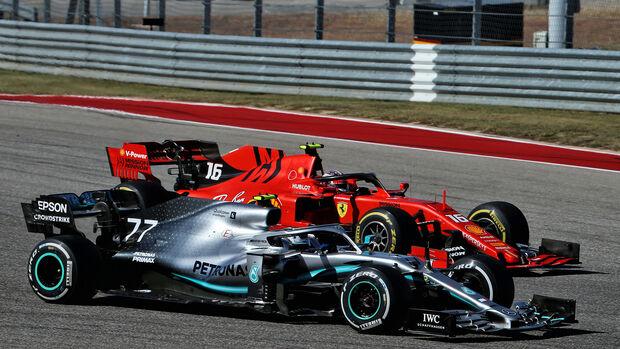 Bottas vs. Leclerc - GP USA 2019