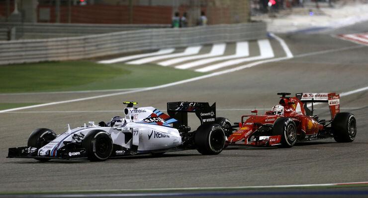 Bottas vs. Vettel - GP Bahrain 2015