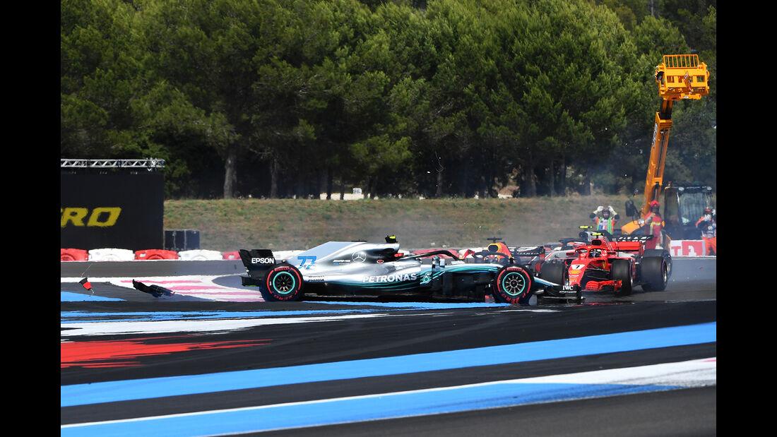 Bottas vs. Vettel - GP Frankreich 2018