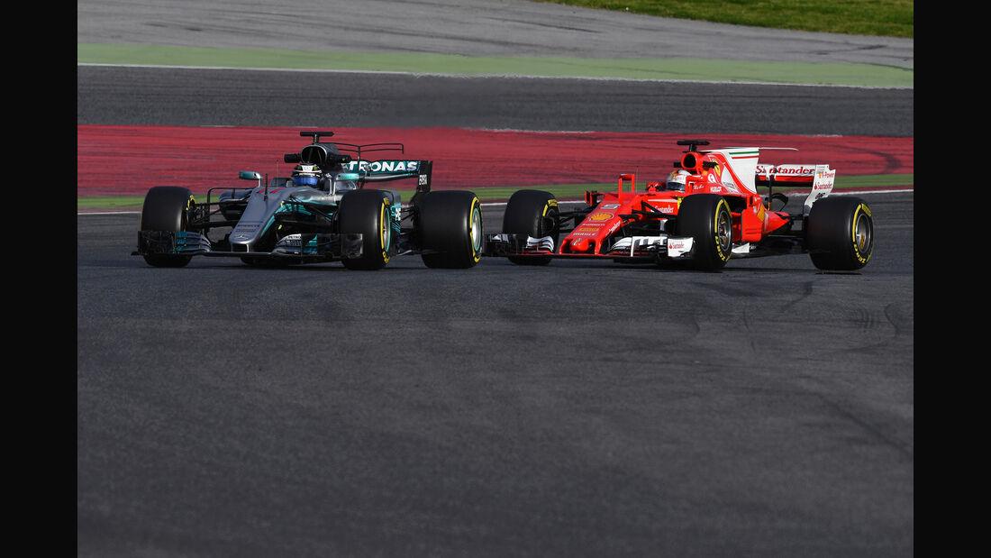 Bottas vs. Vettel - Mercedes vs. Ferrari - Formel 1 - Test - Barcelona - 7. März 2017