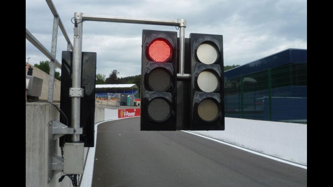 Boxenampel - GP Belgien - 25. August 2012