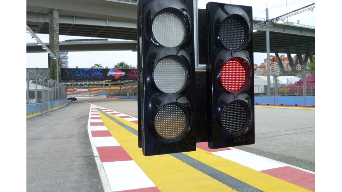 Boxenampel - GP Singapur - 22. September 2011