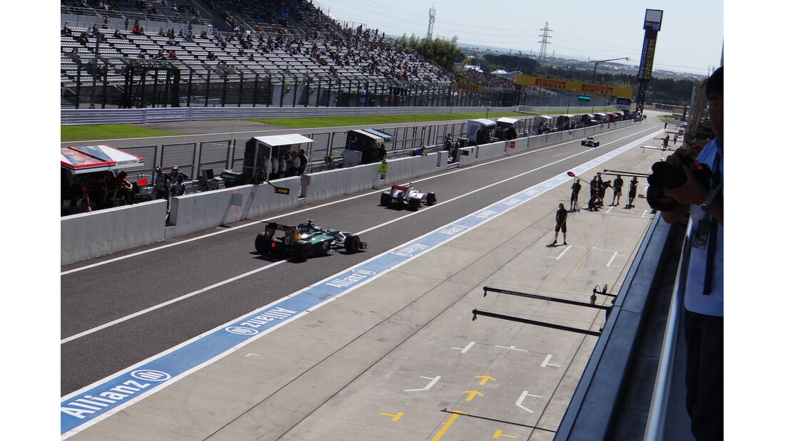 Boxengasse - Formel 1 - GP Japan - Suzuka - 5. Oktober 2012