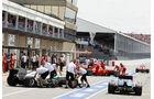 Boxengasse - Formel 1 - GP Kanada - 10. Juni 2012