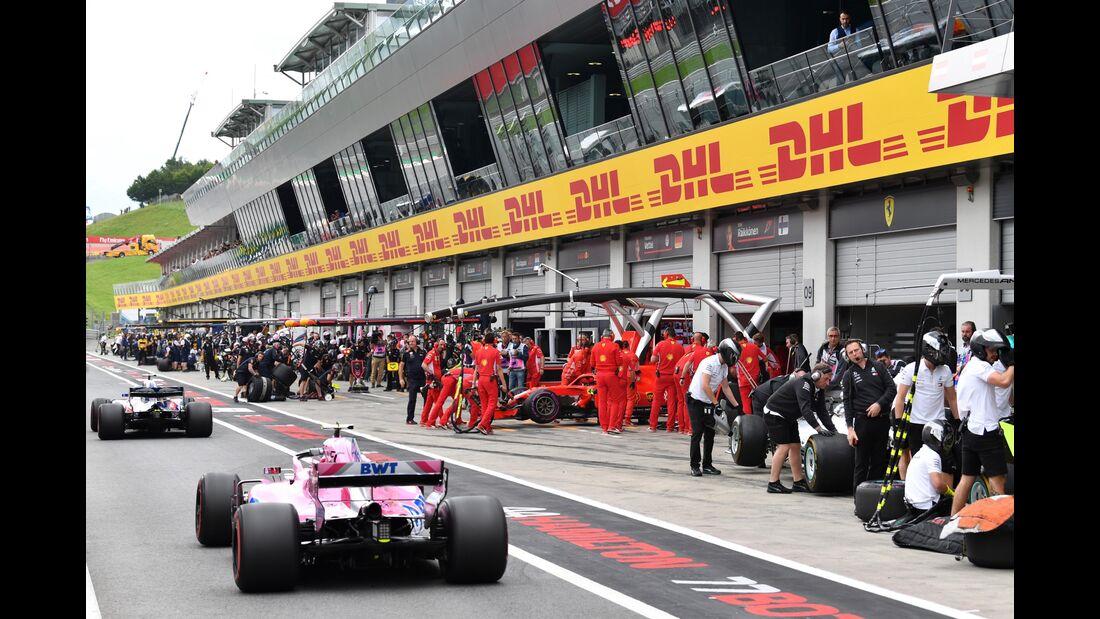 Boxengasse - Formel 1 - GP Österreich - 29. Juni 2018
