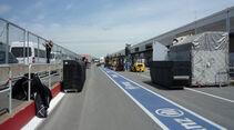 Boxengasse GP Kanada