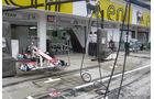 Boxengasse - GP Ungarn - Formel 1 - 28.7.2011
