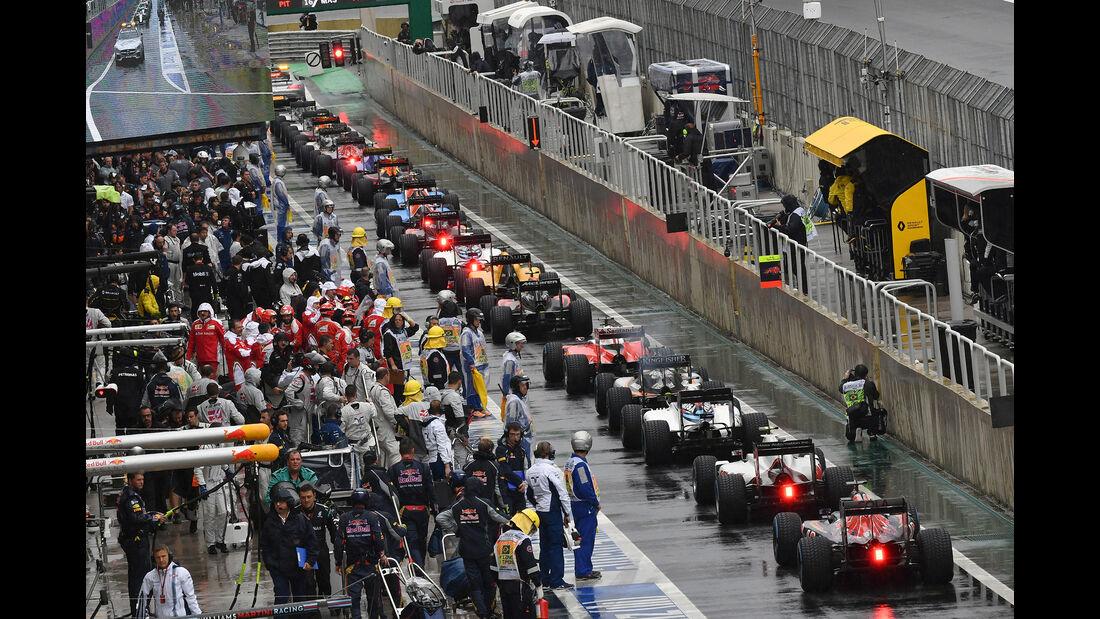 Boxengasse - Unterbrechung - GP Brasilien 2016