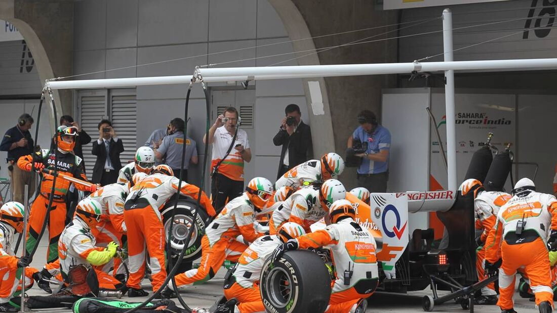 Boxenstopp - Force India  - Formel 1 - GP China - 15. April 2012