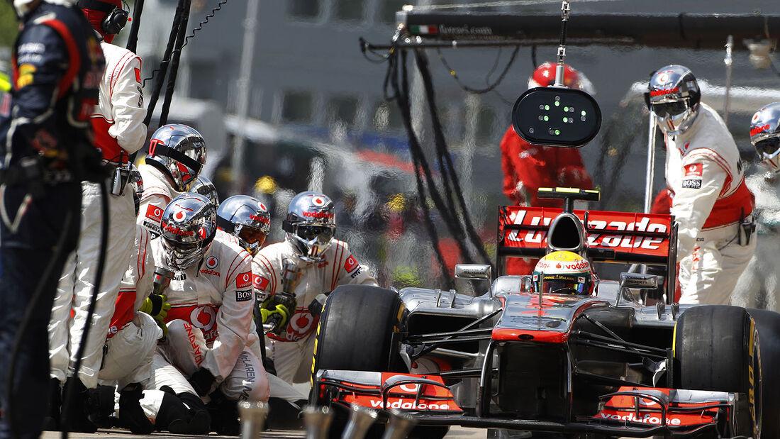 Boxenstopp McLaren 2012