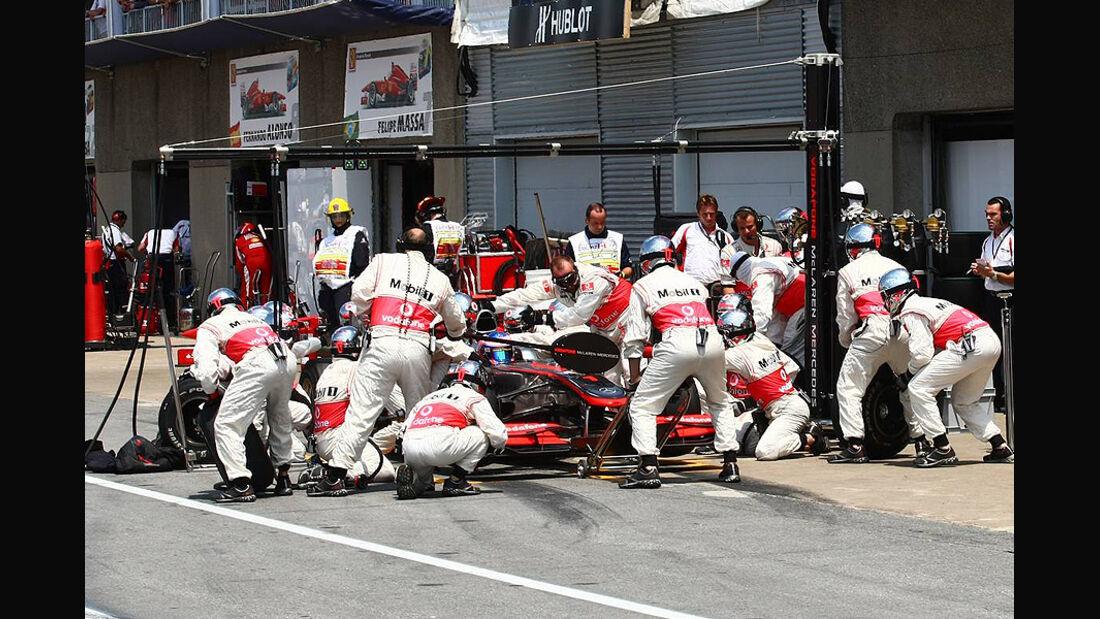 Boxenstopp McLaren