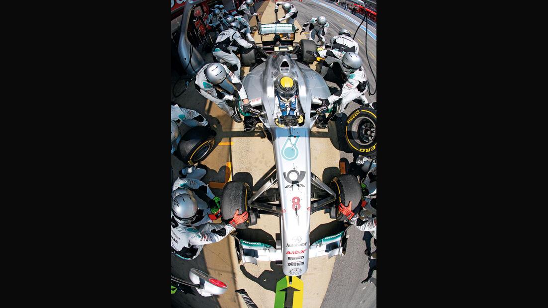 Boxenstopp, Mercedes, Team