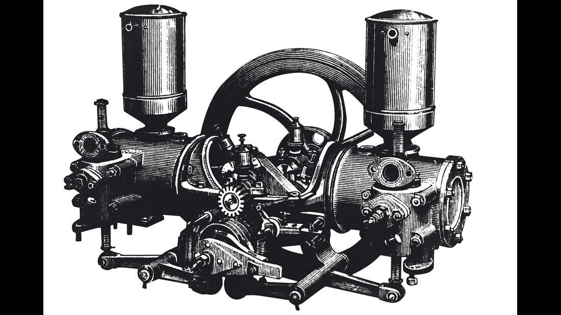 Boxermotor, Karl Benz