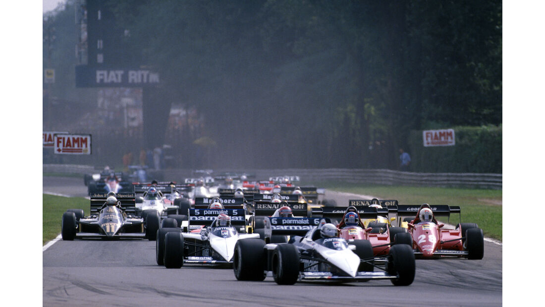 Brabham-BMW BT52B Turbo - Ricciardo Patrese - Nelson Piquet - GP Italien 1983 - Start - Formel 1