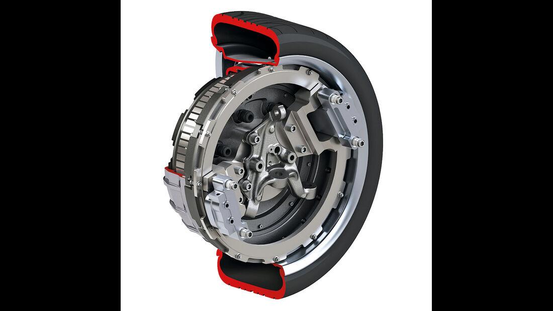 Brabus E4WD Full Electric, Grafik, Rad