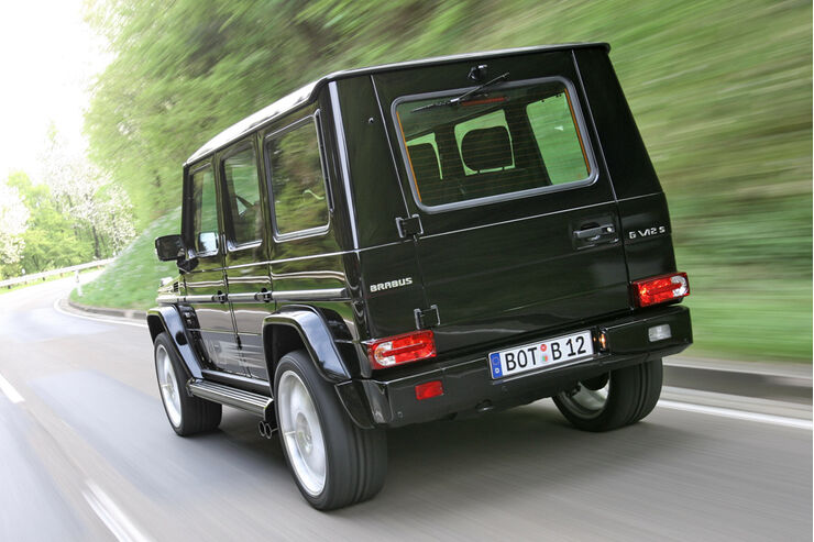 brabus g v12 s mercedes g modell mit 700 ps auto motor und sport. Black Bedroom Furniture Sets. Home Design Ideas
