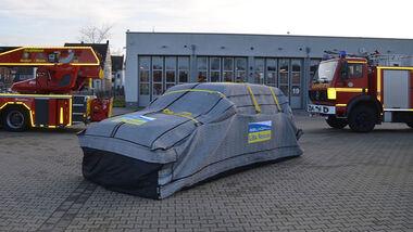 Brandschutzdecke Elektroauto Libarescue Gelkoh Ibena