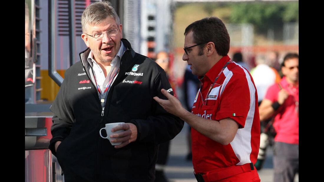 Brawn & Domenicali GP Spanien 2011