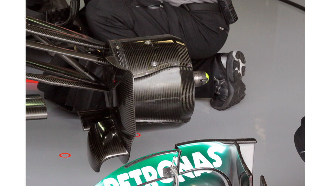 Bremsbelüftung Mercedes - Formel 1 - GP England - 28. Juni 2013