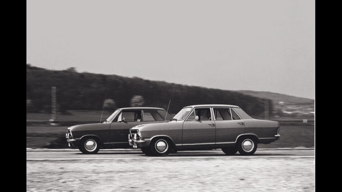 Bremsentest, Opel Kadett, Seitenansicht