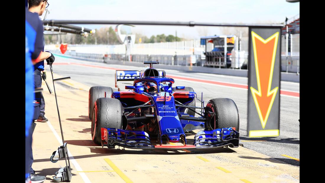 Brendon Hartley - Toro Rosso - F1-Test - Barcelona - Tag 8 - 9. März 2018