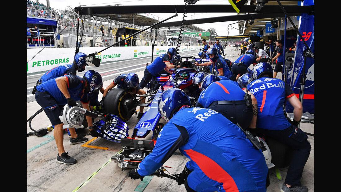 Brendon Hartley - Toro Rosso - GP Brasilien - Interlagos - Formel 1 - Samstag - 10.11.2018