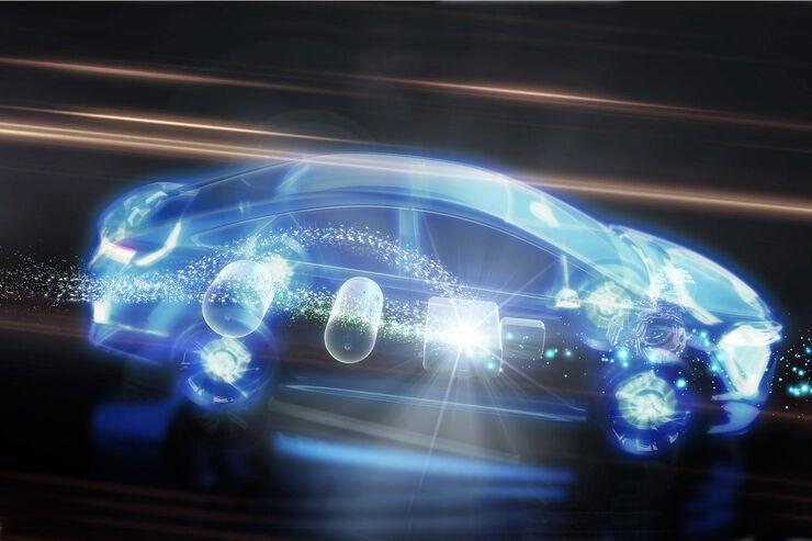 Brennstoffzellen-Hybridfahrzeug Fuel Cell Hybrid Vehicle – FCHV Toyota