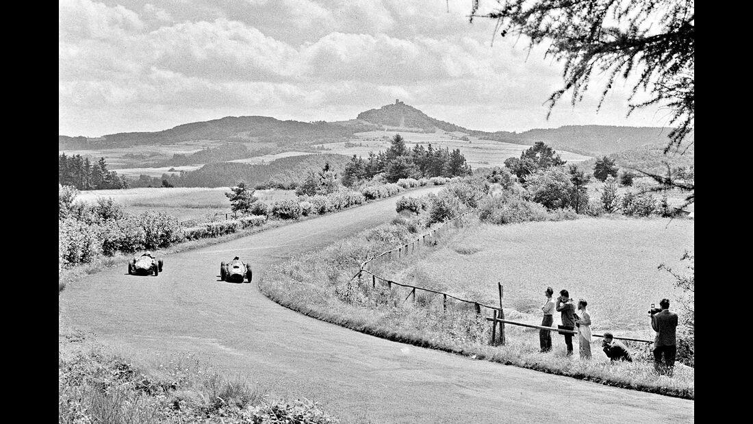 Brian Naylor - Cooper T45 Peter Collins - Ferrari Dino 246 - GP Deutschland 1958 - Nürburgring
