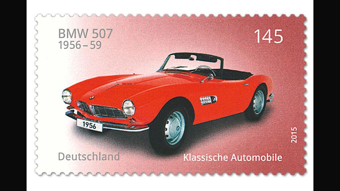 Briefmarke Klassische Automobile BMW 507