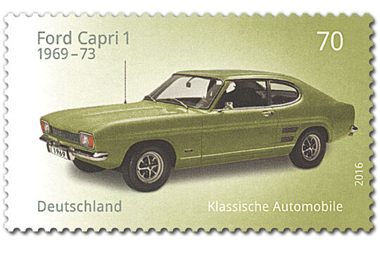 Briefmarke Klassische Automobile Ford Capri