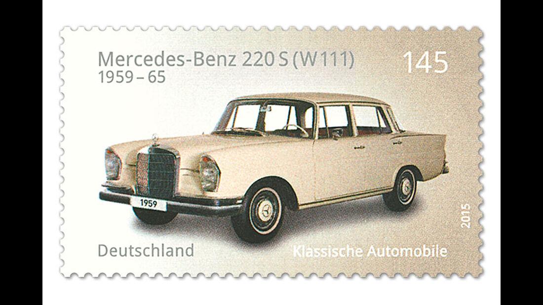 Briefmarke Klassische Automobile Mercedes-Benz 220 S