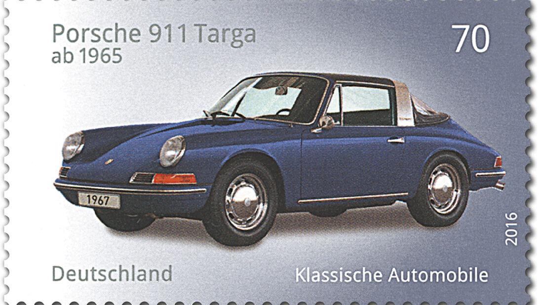 Briefmarke Klassische Automobile Porsche 911