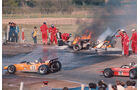Bruce McLaren - McLaren M14A Ford - Mario Andretti - March 701 - Jacky Ickx - Jackie Oliver - GP Spanien 1970 - Jarama