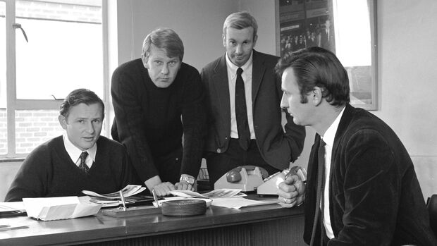 Bruce Mclaren - Tyler Alexander - Teddy Mayer - Phil Kerr - England 1970