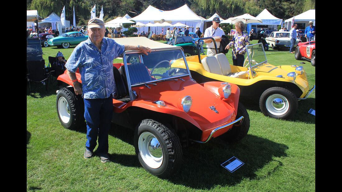 Bruce Meyers vor dem ersten Buggy von 1964