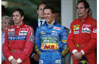 Brundle, Schumacher & Berger - Podium Monaco